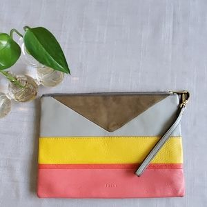 Fossil Large Multi Color Wristlet Clutch
